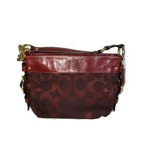 Coach Zoe Bordeaux Signature handbag in Burgundy
